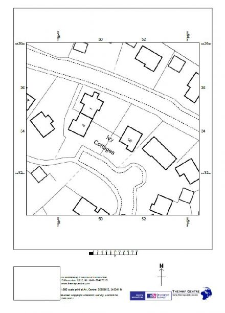"1:500 Ordnance Survey A4 Sitemap ""Block Plan"" on Paper - 6 Copies sent by post"